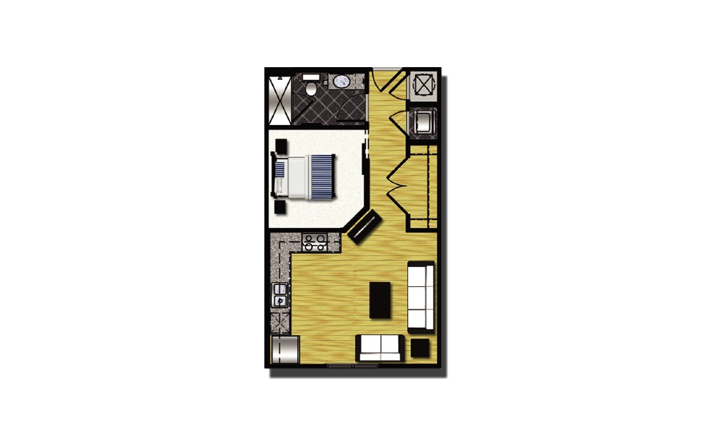 A1-5.2 - 1 bedroom floorplan layout with 1 bath and 548 square feet.