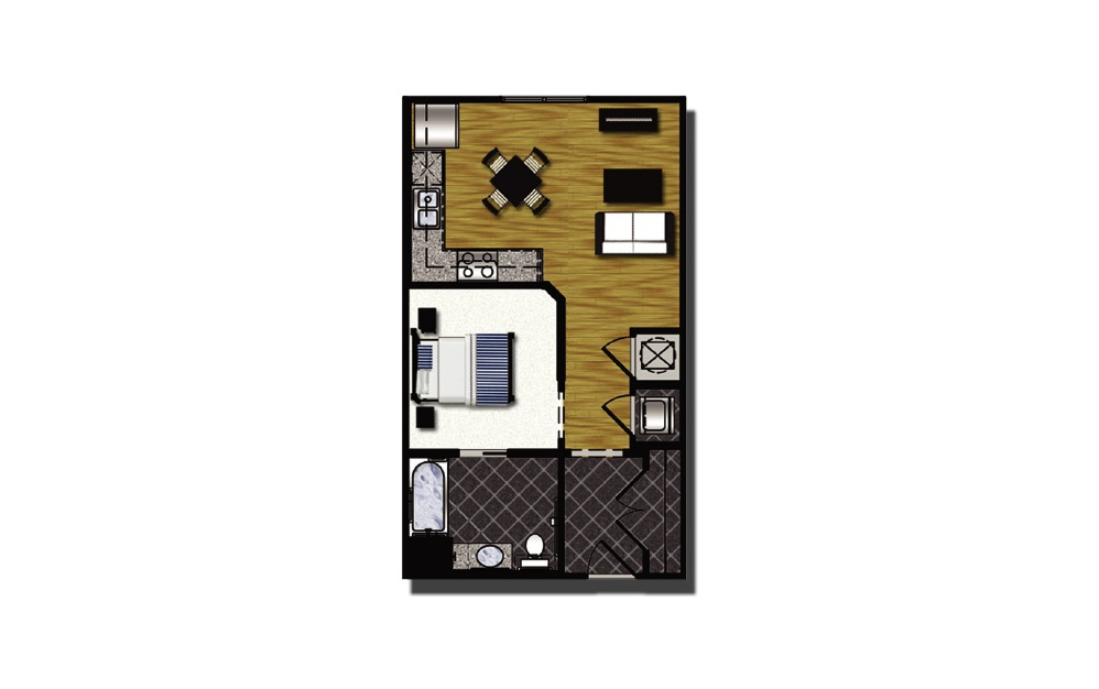 A1-7.2hc - 1 bedroom floorplan layout with 1 bath and 548 square feet.