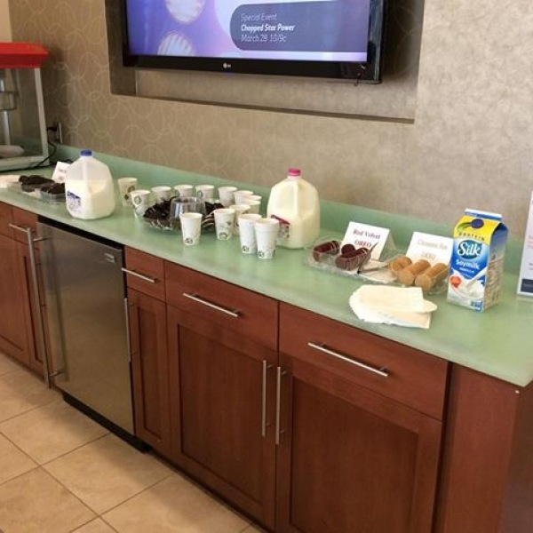 National OREO Cookie Day! We have milk and Oreo cookies in the lobby. Stop by and enjoy! #TrinityCommons #NWRLiving