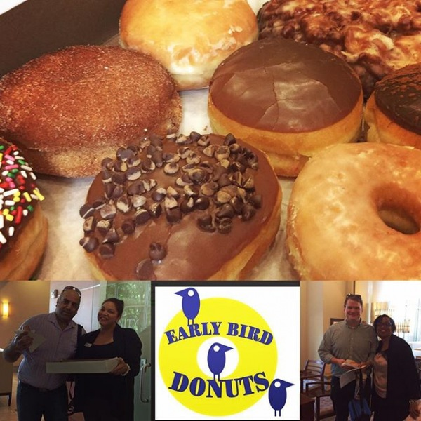 @trinitycommons would like to welcome our newest neighbor @early_bird_donuts !!!! Fresh, Scratch-Made donuts, biscuits, and coffee that taste amazingly delicious.  Thank you for sharing with us and our residents! #thisisNWRliving #newneighbors
