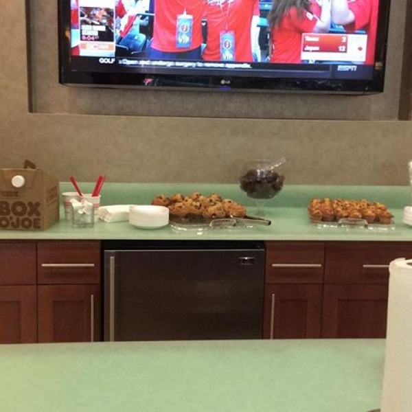 Stop by #TrinityCommons front lobby and enjoy breakfast on the go! We love our Residents! #ThisisNWRLiving