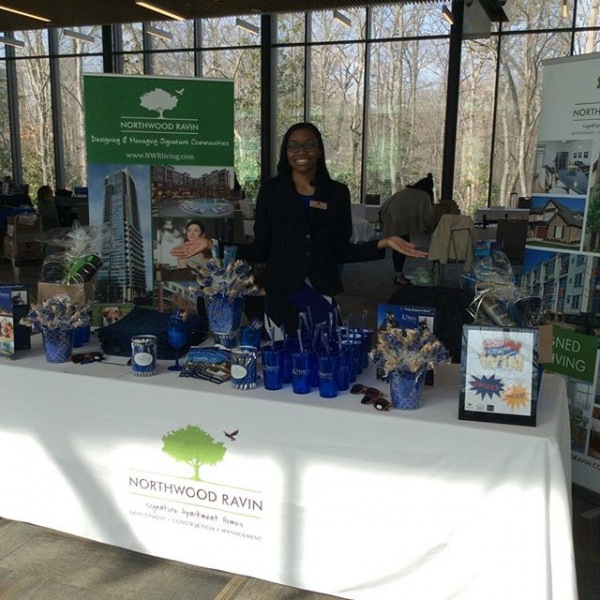 Stop by the#trinitycommons table and let Lenora help you with finding that prefect apartment! #trinitycommons #ThisisNWRLiving #Duke #apartments