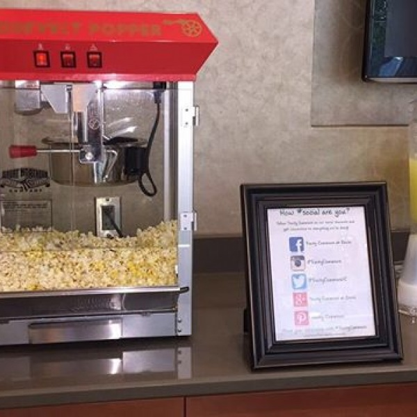 Stop by Trinity Commons Lobby to grab some popcorn and ice cold lemonade to cool off from the heat! #Trinity Commons #ThisIsNWRLiving