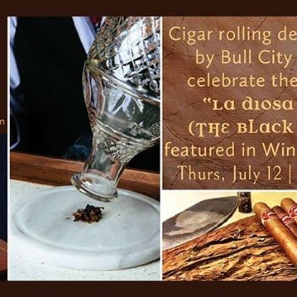 "Tomorrow from 6-9pm at COPA, enjoy a cigar rolling demonstrationby Bull City Cigars to celebrate the launch of ""LA DIOSA NEGRA"" (The Black Goddess) featured in Wine and Spirits. #trinitycommons #thisisNWRliving #CubanCuisine Tapas"