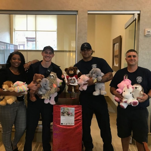 We had a great time with some of the guys from #DurhamFireDepartment Station 2! They were so grateful for the donation of stuffed animals from our #trinitycommons community! #thisisNWRliving #reallifehereos